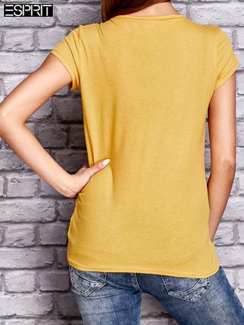 ESPRIT Żółty t-shirt z nadrukiem gwiazdy                                  zdj.                                  3