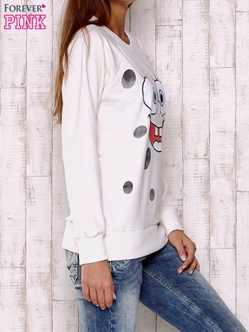 Ecru bluza z bajkowym nadrukiem                                  zdj.                                  3