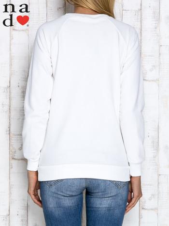 Ecru bluza z cekinowym kotem                                  zdj.                                  3
