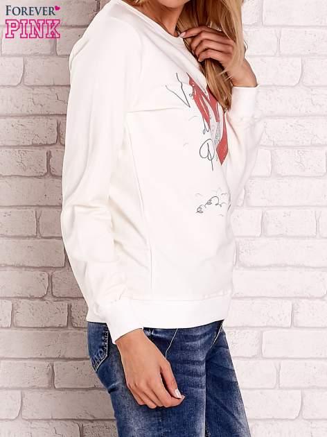 Ecru bluza z motywem paryskim                                  zdj.                                  3