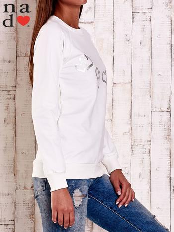 Ecru bluza z motywem serduszek                                  zdj.                                  3