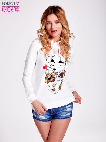 Ecru bluza z nadrukiem psa                                  zdj.                                  5