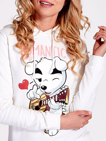 Ecru bluza z nadrukiem psa                                  zdj.                                  6