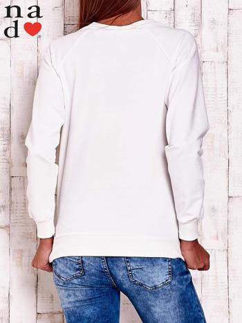 Ecru bluza z napisem AWESOME                                  zdj.                                  5
