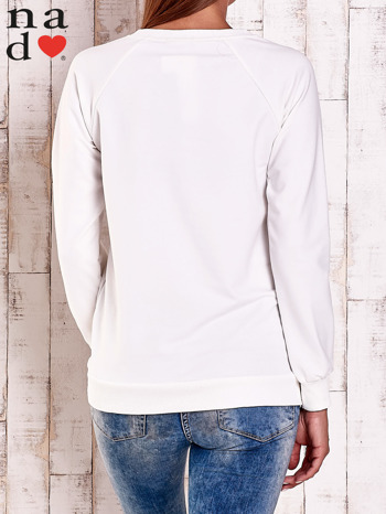 Ecru bluza z napisem LOVELY                                  zdj.                                  4