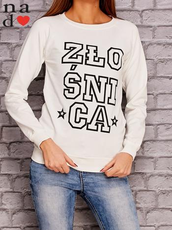 Ecru bluza z napisem ZŁOŚNICA                                  zdj.                                  1