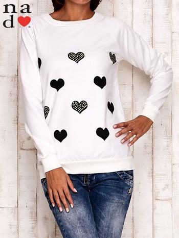 Ecru bluza z serduszkami                                  zdj.                                  1
