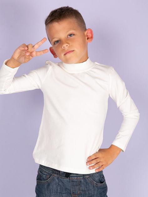Ecru bluzka dziecięca z półgolfem                               zdj.                              6