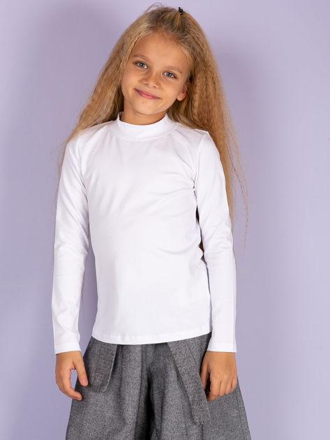 Ecru bluzka dziecięca z półgolfem                               zdj.                              9