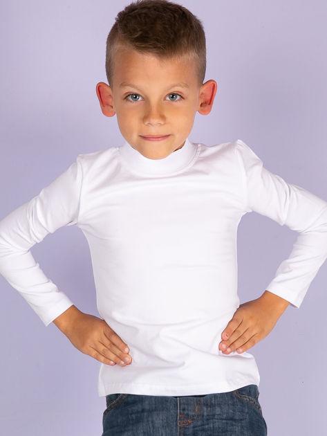 Ecru bluzka dziecięca z półgolfem                               zdj.                              14