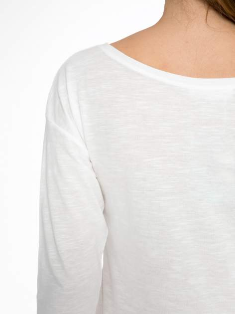 Ecru bluzka z motywem kwiatowym YOU ARE...                                  zdj.                                  9