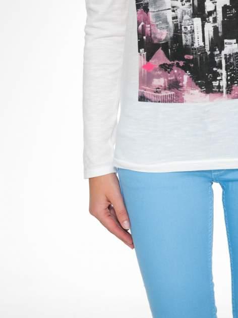 Ecru bluzka z nadrukiem NEW YORK CITY                                  zdj.                                  8