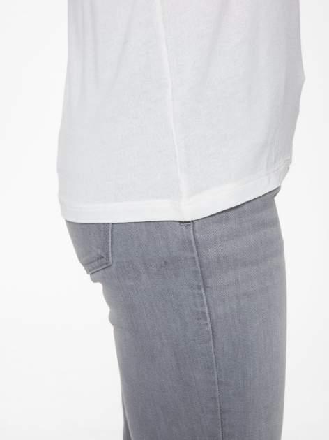 Ecru bluzka z nadrukiem okularów                                  zdj.                                  11