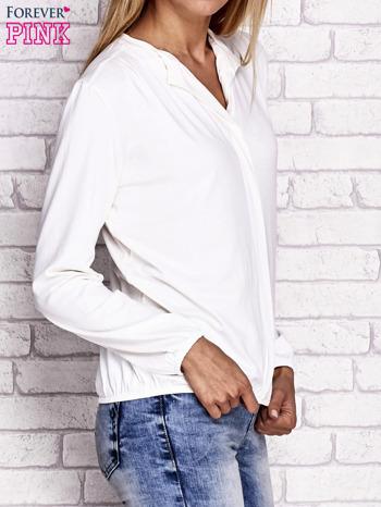 Ecru bluzka ze ściągaczem na dole                                  zdj.                                  3