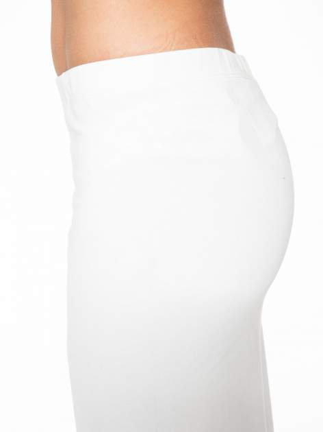Ecru długa spódnica maxi z dwoma rozporkami z boku                                  zdj.                                  6