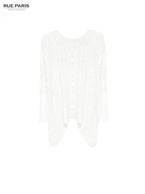 Ecru dziergany długi sweter o kroju oversize                                  zdj.                                  5