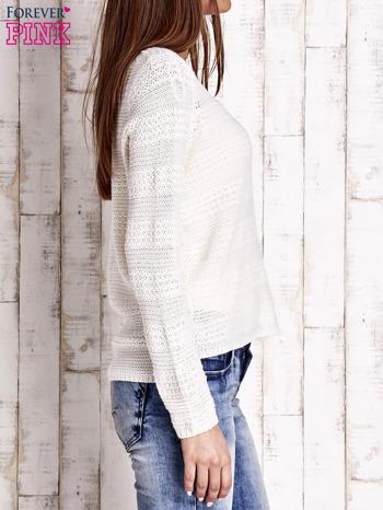 Ecru dziergany sweter                                   zdj.                                  3