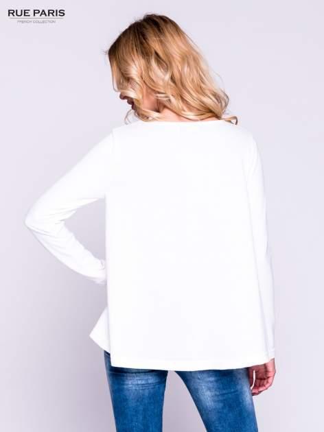 Ecru klasyczny sweterek                                  zdj.                                  3