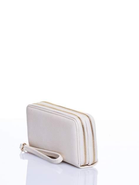 Ecru matowy portfel z rączką                                  zdj.                                  2
