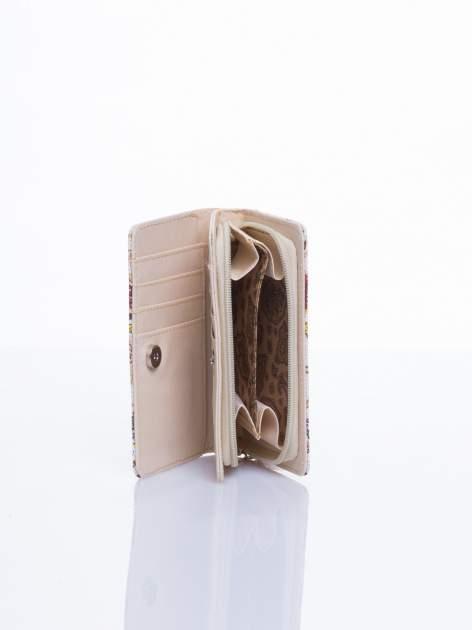 Ecru mini portfel w sówki                                  zdj.                                  3