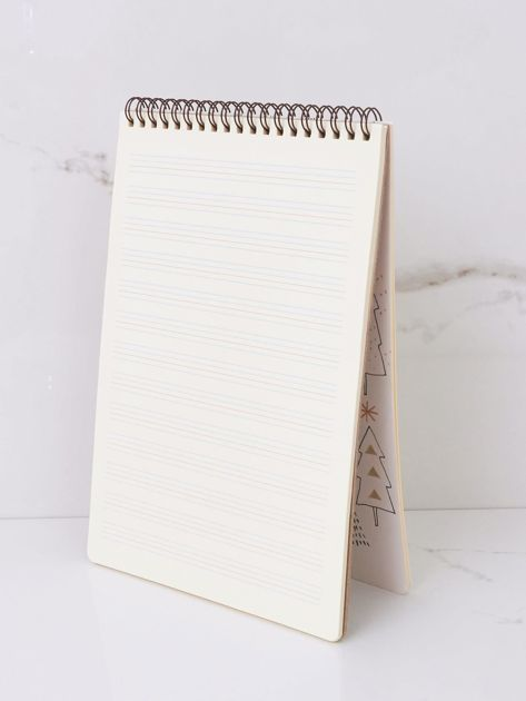 Ecru notatnik z nadrukami                              zdj.                              4