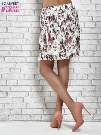 Ecru plisowana spódnica w kwiaty                                  zdj.                                  5