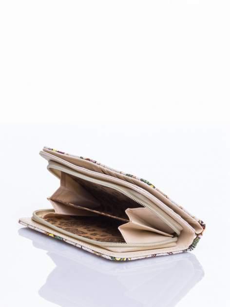 Ecru portfel w sówki                                  zdj.                                  4
