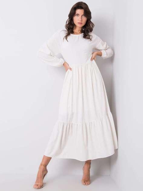 Ecru sukienka Penelope RUE PARIS