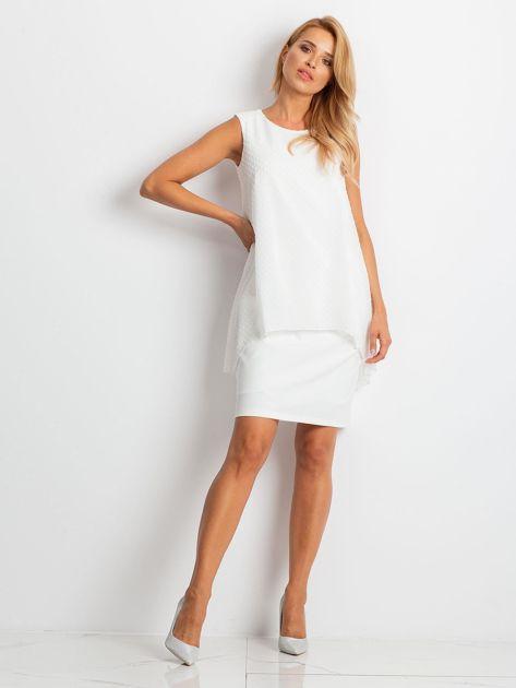 Ecru sukienka Suve                              zdj.                              4