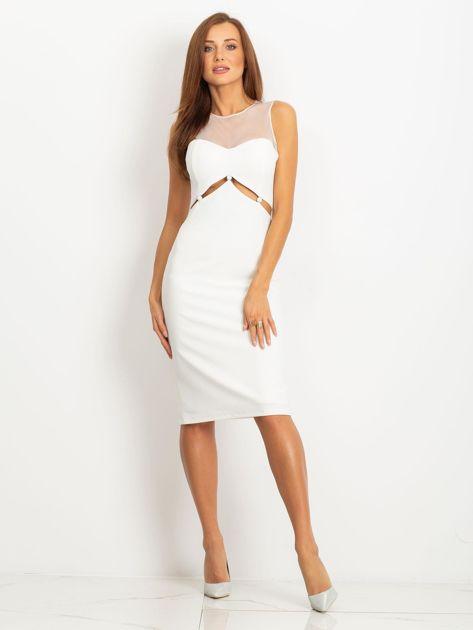 Ecru sukienka Vibes                              zdj.                              1