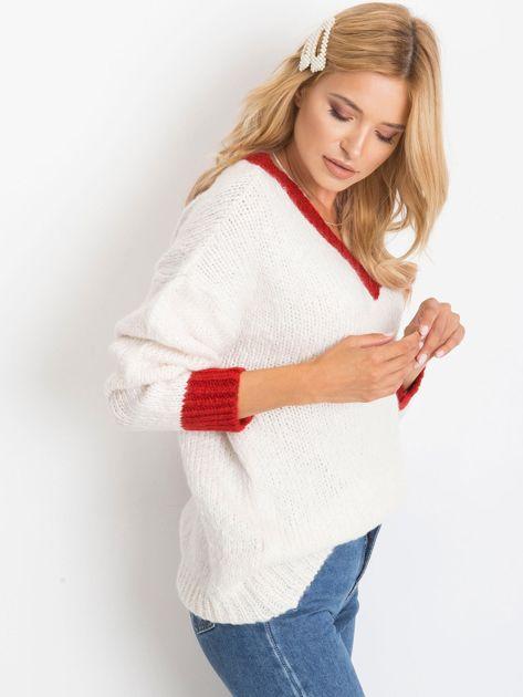 Ecru sweter Drive                              zdj.                              3