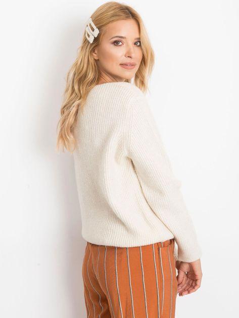 Ecru sweter Peace                              zdj.                              2