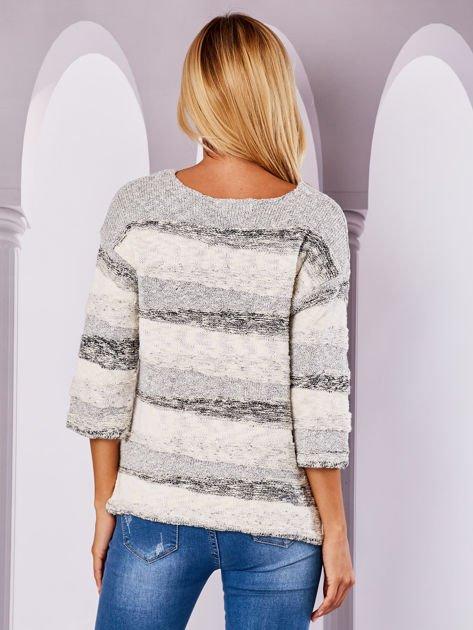 Ecru sweter melange                                  zdj.                                  2