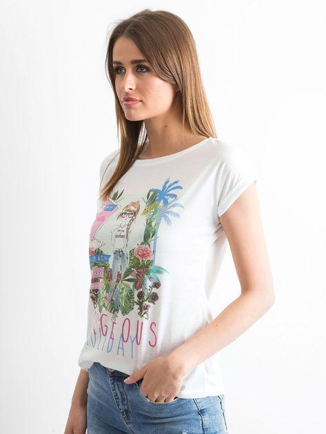 Ecru t-shirt Gorgeous                              zdj.                              3