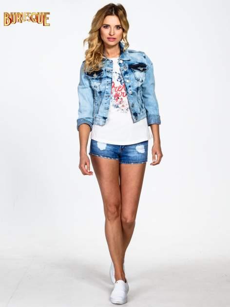 Ecru t-shirt z nadrukiem kwiatowym PRETTY GIRL                                  zdj.                                  2