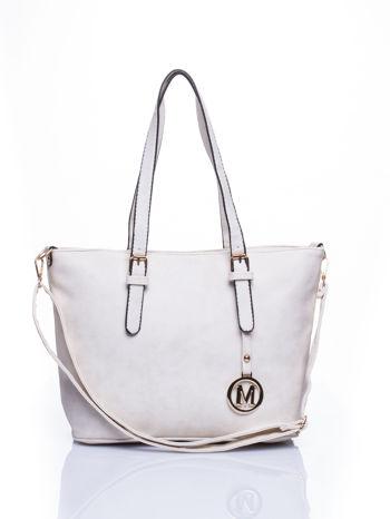 Ecru torba shopper bag z zawieszką