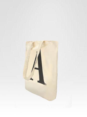 Ekotorba na zakupy z nadrukiem litery A                                  zdj.                                  3