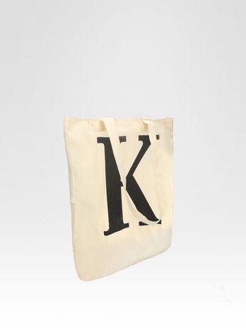 Ekotorba na zakupy z nadrukiem litery K                                  zdj.                                  2