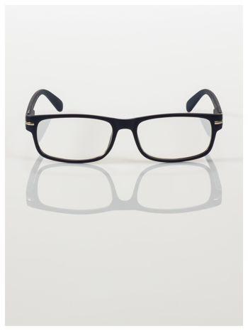 Eleganckie czarne matowe korekcyjne okulary do czytania +3.0 D  z sytemem FLEX na zausznikach                                  zdj.                                  2