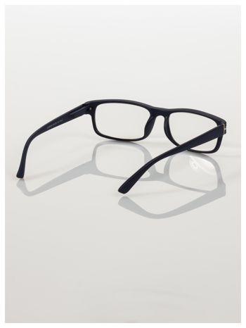 Eleganckie granatowe matowe korekcyjne okulary do czytania +3.0 D  z sytemem FLEX na zausznikach                                  zdj.                                  4