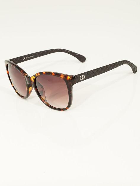 Eleganckie przeciwsłoneczne okulary damskie w kolorze pantery                              zdj.                              3