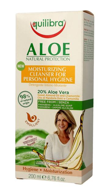 """Equilibra Aloe Natural Protection Żel do higieny intymnej nawilżający  200ml"""""""