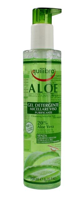 """Equilibra Aloe Żel micelarny oczyszczający do demakijażu 20% aloesu  200ml"""""""