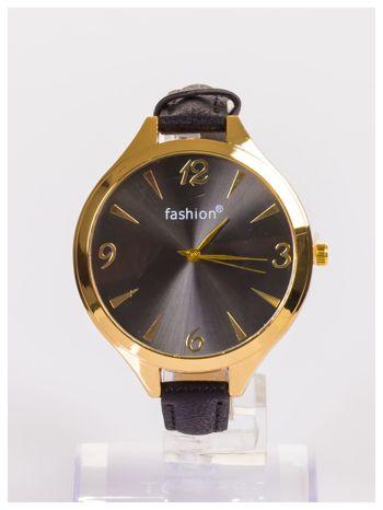 FASHION Duży damski zegarek na delikatnym skórzanym pasku                                   zdj.                                  1