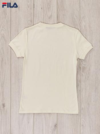 FILA Ecru t-shirt dla dziewczynki basic                                  zdj.                                  2