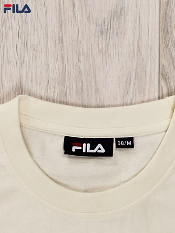 FILA Ecru t-shirt dla dziewczynki basic                                  zdj.                                  3