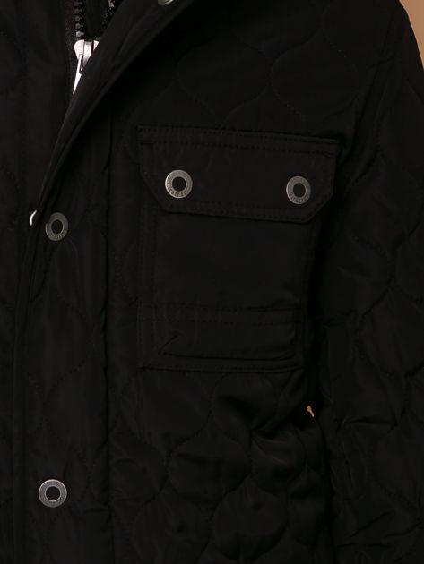 FIRETRAP Czarna pikowana kurtka dla chłopca                              zdj.                              6