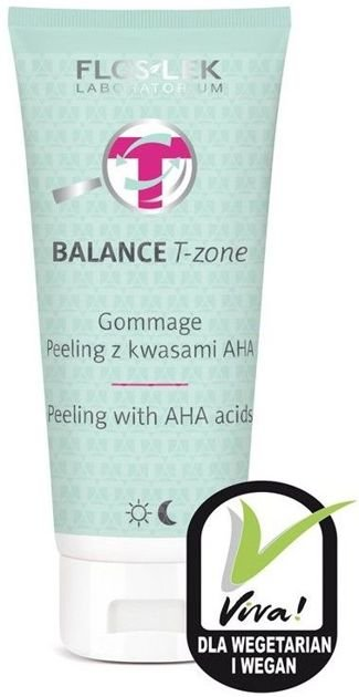 FLOSLEK BALANCE T-zone Gommage peeling z kwasami AHA 125 g                              zdj.                              1