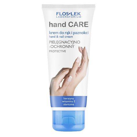 FLOSLEK Krem do rąk i paznokci pielęgnacyjno-ochronny z keratyną 100 ml
