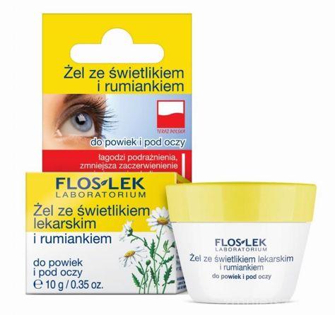FLOSLEK Żel ze świetlikiem lekarskim i rumiankiem do powiek i pod oczy 10 g